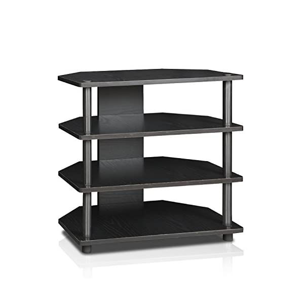 Furinno Turn-N-Tube Easy Assembly 4-Tier Petite TV Stand