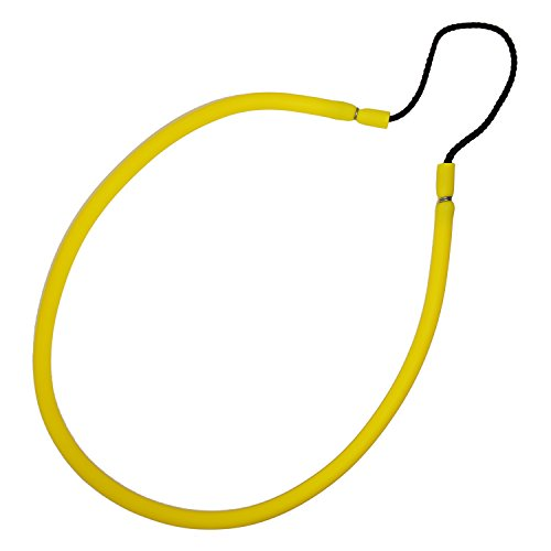 3/8' Yellow Rubber Fishing Hand Pole Spear Sling - 28-3/8' Long