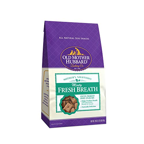 Old Mother Hubbard Mother'S Solutions Minty Fresh Breath Crunchy Natural Dog Treats, 20-Ounce Bag