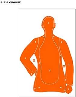 B-21 Qualification Target 25 yard silhouette Orange Size: 23
