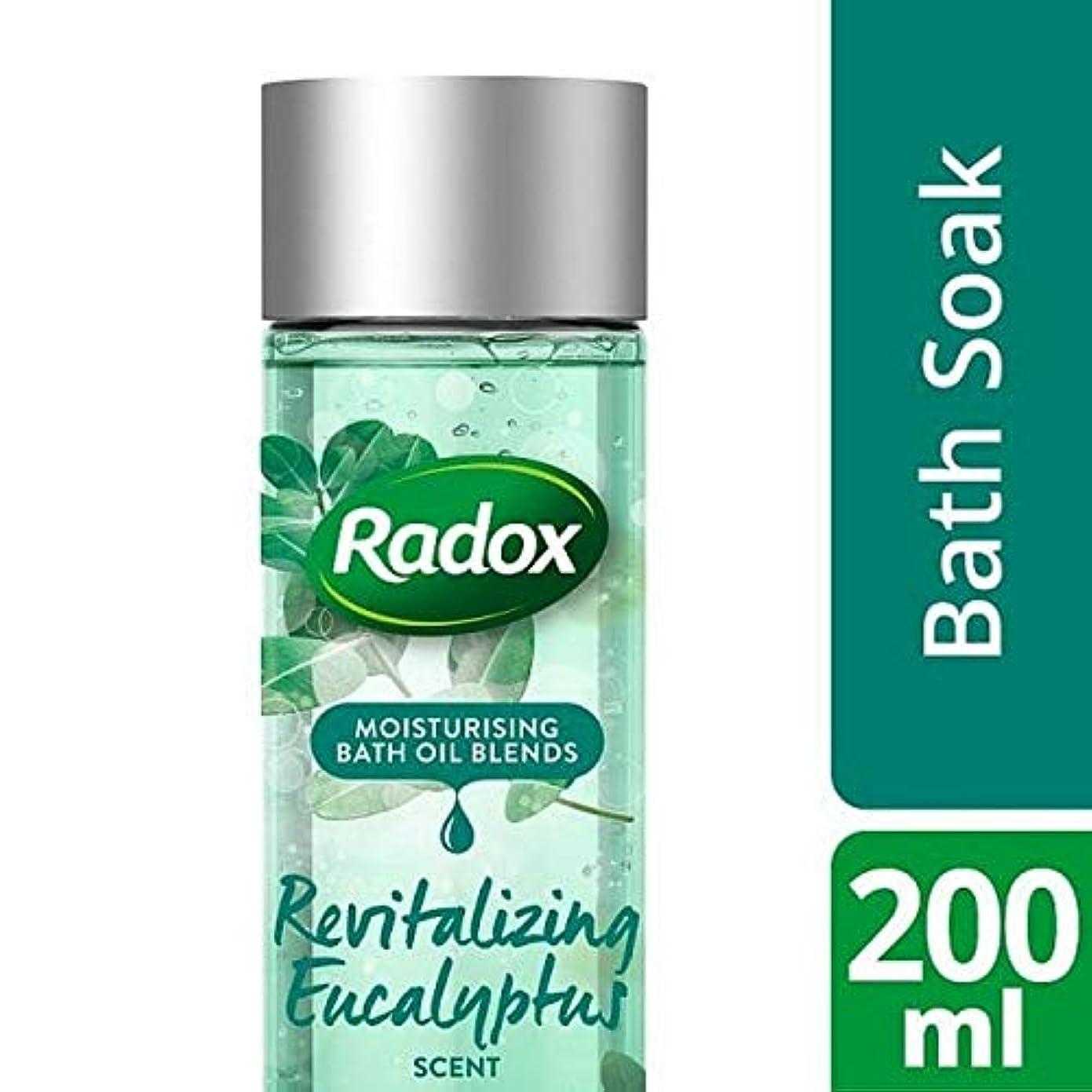 独特の武装解除降ろす[Radox] ユーカリの香り200ミリリットルを活性化Radoxのバスオイル - Radox Bath Oil Revitalizing Eucalyptus Scent 200ml [並行輸入品]