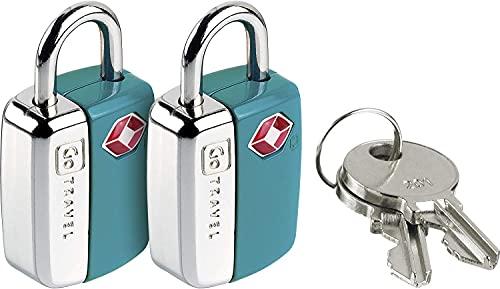 PetrolScooter Distributed Go Travel Mini Glo - Lucchetto per sentinella da viaggio, approvato TSA, confezione da 2