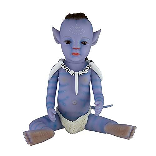QWEBDF Muñeca Realista renacida, muñecas recién Nacidas realistas de 12/22 Pulgadas, no muñecas de Material de Vinilo, muñeca de Silicona de Cuerpo Completo Real