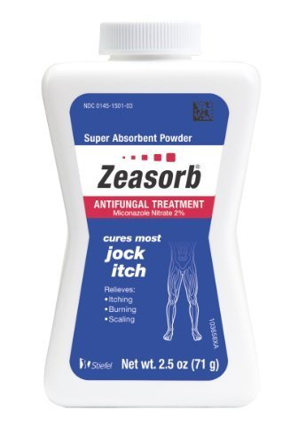 Zeasorb Antifungal Treatment Powder, Jock Itch, 2.5 Ounce (Pack of 2) by Zeasorb