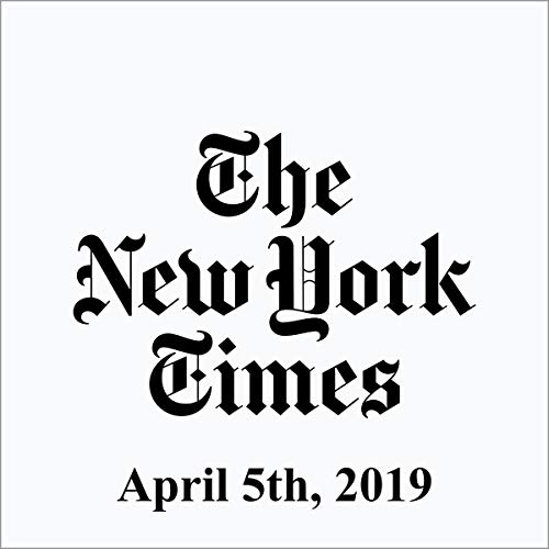 April 5, 2019 copertina