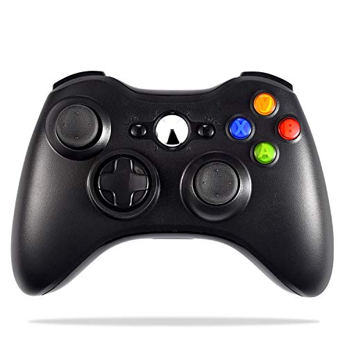 Wireless Controller Compatible with Xbox 360, Astarry 2.4GHZ Game Controller Gamepad Joystick Compatible with Xbox & Slim 360 PC Windows 7, 8, 10 (Black)
