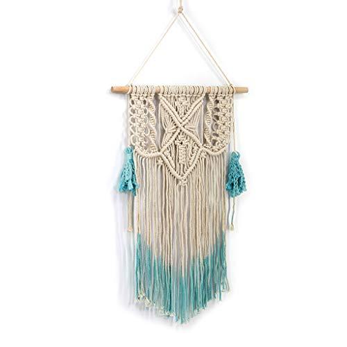 Qiman Tapiz de macramé tejido a mano, bohemio, elegante, bohemio, tejido bohemio, tejido, decoración para la habitación, el hogar, accesorios para fotos