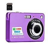 Fotocamera digitale, 2,4 pollici FHD Fotocamere tascabili Fotocamera ricaricabile da 24 MP per...