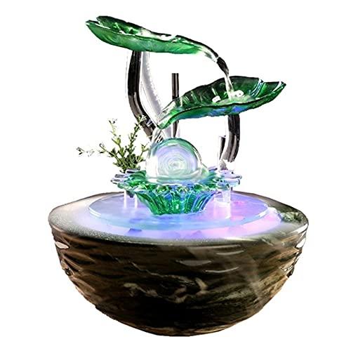 Meditación Fuente de cerámica Desktop Interior Flujo de Aire Humidificación Oficina Sala de Estar Feng Shui Ball Regalo Decoración Adornos Decoración (Color : B)