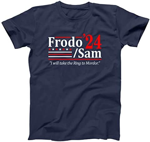 Frodo and Sam 2024 Election Funny Mens Shirt Small Navy product image