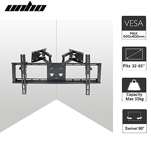 Unho® Wandhalterung TV Schwenkbar Neigbar TV Eckhalterung Eckhalter für LED LCD Plasma Fernseher von 32
