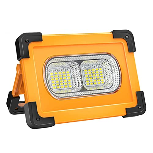 Luz de emergencia al aire libre, USB+carga solar portátil luz de trabajo lámpara de camping solar con imán linterna LED para senderismo al aire libre reparación de coche, A