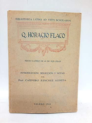 Texto latino de 65 de sus odas / Introducción, selección y notas...