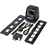 SHTAO Escáner de Alta resolución Convierte Digital USB Negativos Diapositivas Escaneo fotográfico Convertidor de película Digital portátil 2.36 Pulgadas LCD