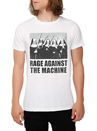 Men Fashion Shirt Printed T Shirt Rage Against Machine Nuns with Guns T Shirt Mens Short Sleeve Shirt