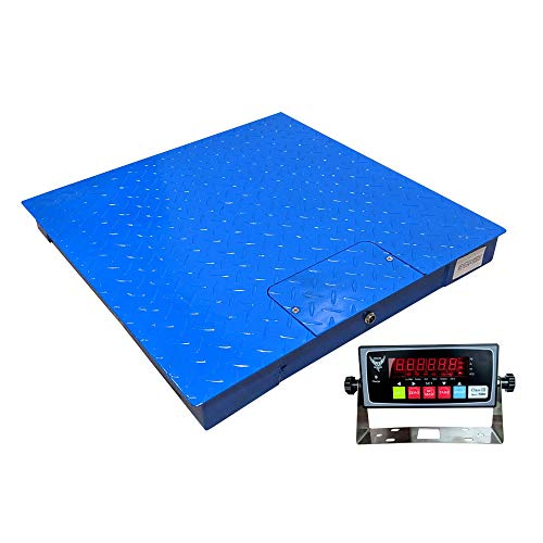 PEC-FS Series Professional Grade Steel Floor Scale | Heavy-Duty Pallet Scale for Industrial or Shipping Use 10000x1lb (48x48)