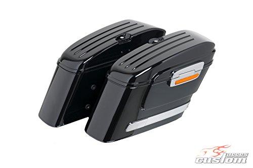 Learn More About Customacces AZ0877N Hard Saddlebags American (Pair) 22L. Suzuki M800 Intruder (WVBM...