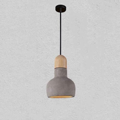 DLGGO Industrial Vintage Loft Oak Lámpara Colgante Dia 5.5