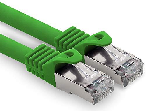5,0m - grün - 1 Stück CAT.7 Computer Ethernet Kabel Netzwerkkabel (Rohkabel) Patchkabel S-FTP LSZH PIMF 10GB s RJ45 Stecker Cat6a