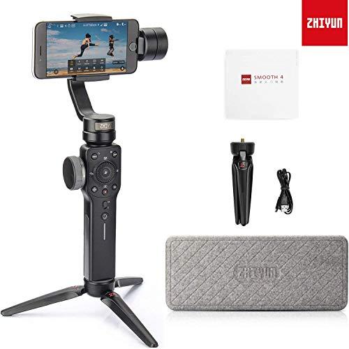 Zhiyun Smooth 4 Professionale 3-Axis Handheld Stabilizzatore con Treppiede per Smartphone come iPhone X 8 Plus 8 7 Plus 7 6S Samsung S9 Plus S9 S8 S7 Huawei P20 Pro Mate 10 e Altri Telefoni Cellulari