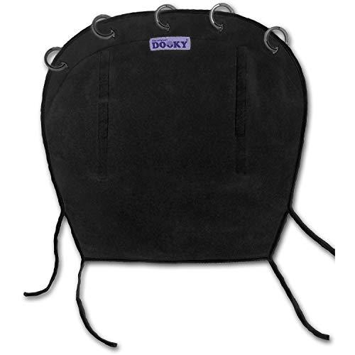Dooky Universal Cover Black Protection solaire, protection contre les intempéries pour les sièges auto, poussettes et landaus (protection UV SPF 40+, testée par le TÜV, ajustement universel), noir