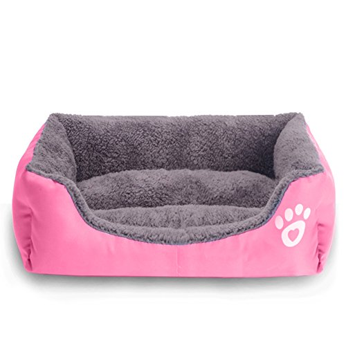 REXSONN® Hundebett kuscheliges, waschbares Hund Bett Hundekissen Hundesofa Hundekorb Hundehöhle hundehütte Katzenbet Tierbett Pet Dog Cat bed cushion - 2