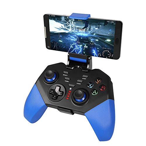 Mando inalámbrico de juego, PowerLead PG8721 Mando a distancia inalámbrico, Turbo Combo Mapeo de teclas Controlador de juego móvil para iOS para Android [No es compatible con iOS 13.4 o superior]