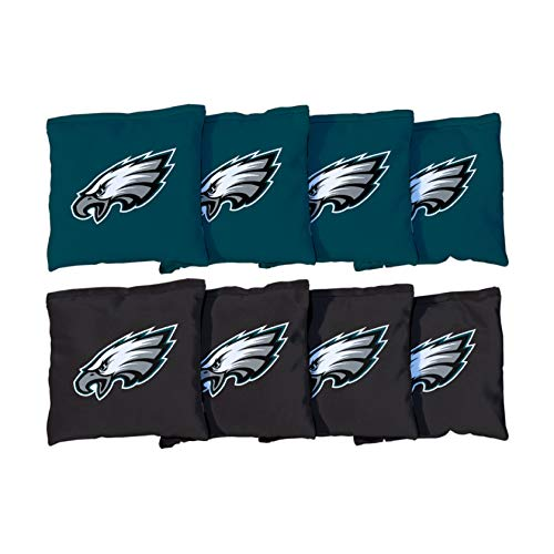 Victory Tailgate Philadelphia Eagles NFL Cornhole Game Bag Set (8 Bags Included, Corn-Filled)