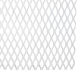 RMP - 1/4 - #20 Steel Flattened & Expanded Metal, Painted White, 12 Inch X 21-3/4 Inch