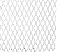 RMP Steel Flattened & Expanded Metal, Painted White 12 Inch x 21-3/4 Inch