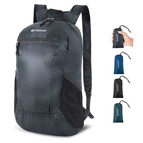 ZOMAKE 16L Packable Hiking Daypack, Water Resistant Ultra Lightweight Backpackfor Travel, Camping and Gym