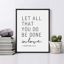 Let All That You Do Be Done in Love, Bible Verse Print, 1 Corinthians 16 14, Scripture Wall Art, Bible Print, 8x10 inch No Frame