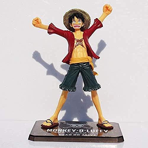 Yooped Figura de Anime Figura de Anime Figura de Luffy de una Pieza para Le Nouveau Monde Singe D Luffy Figuras de Anime de PVC Decoración de La Maison 15 CM
