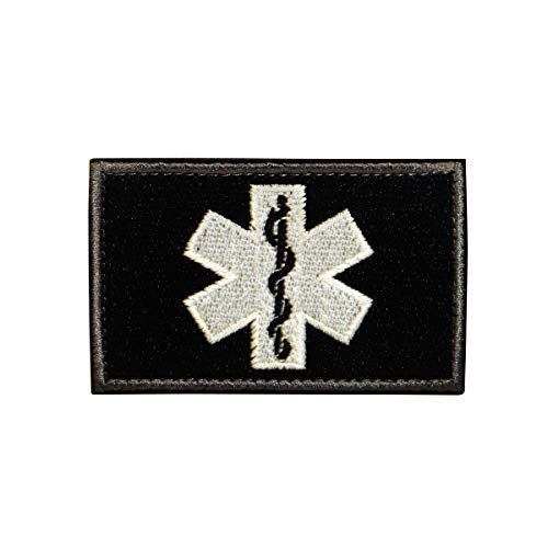 Cobra Tactical Solutions Tattico EMS EMT Medico Paramedico Paramedic Star of Life Toppa Ricamo Patch Airsoft Paintball per Abbigliamento tattico Zaino