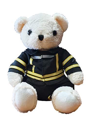 Marketing, Druck & Design 4 YOU GmbH Feuerwehr-Teddy - Plüsch Feuerwehrbär in Einsatzkleidung