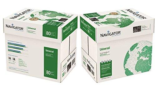 NAVIGATOR universal Papel para fotocopiadora (A4, 80 g/m²), color blanco NAV0317 [5 x 500 hojas]