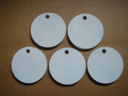 Quality Targets Set of Five Round Hangers 3/8 Inch Thick AR500 Steel NRA Action Pistol Plate! (4 Inch)
