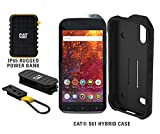 CAT S61 Single SIM 64GB Unlocked Smartphone with Integrated FLIR Thermal Imaging Camera, 10,000mAh Rugged Power Bank & CAT S61 Hybrid Case - North American Variant - 2 Year Warranty