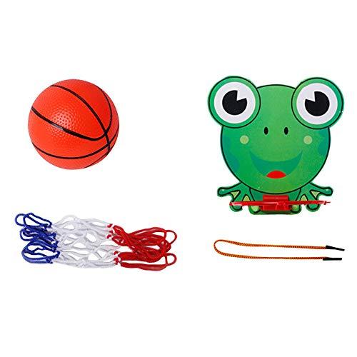 DIII Basketballkorb für Kinder drinnen und draußen, Mini-Basketballnetz zum Aufhängen, Basketball-Spielset, Rückwand, Netball-Spielzeug mit Ballspielen für Kinder für Zuhause Schlafzimmer