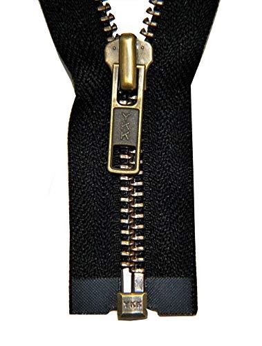 Reißverschluss 1 Wege teilbar schwarz 70 cm Metall Metallzähne