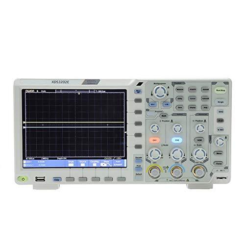 Oszilloskop, XDS3202E Oszilloskop 200 MHz Bandbreite 8-Zoll-LCD-Oszilloskop 100-240 V EU-Stecker-Dekodierungsstandard