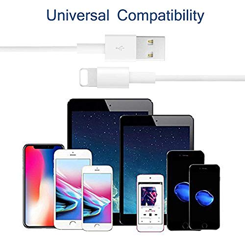 iPhone Charger, iPhone Charger Wire Data Sync Charging Cord Compatible with iPhone 11 Pro Max/iPhone 11 Pro/iPhone 11/iPhone X/8 Plus/7 Plus/6s/6 Plus/6s Plus/5/5s/5c/XS/XR/XS Max[2-Pack]