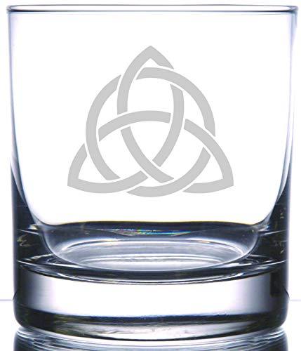 IE Laserware Triquetra | Rocks Glass | Ein altes keltisches Symbol, eine Rune des Schutzes. Eines der ältesten Symbole, die bis 500 v. Chr. symbolisiert die dreifache Göttin (Jungfrau-Mutter-Krone).