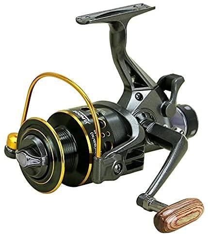 CSSDESIGN Carrete de pesca, doble freno diseño carrete, 10 + 1 eje Super fuerte para pesca de carpa carrete giratorio tipo rueda de pesca, mg4000