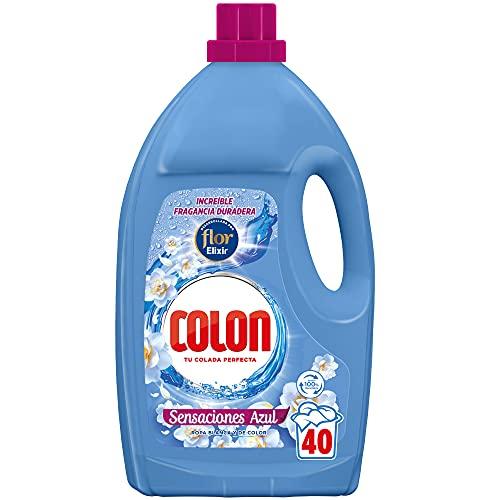 Colon Sensaciones Azul - Detergente Para Lavadora (Adecuado Para Ropa Blanca Y De Color, Formato Gel, Hasta 40 Dosis) 200 ml
