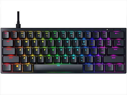 Durgod HK Venus RGB Mechanische Gaming Tastatur - 60prozent Layout - Double Shot PBT Cherry Profile - NKRO - USB Typ C - Aluminium Chassis (Gateron Red, Schwarz)