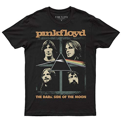 Pink Floyd Band Squares T-Shirt Official Licensed Uomo, XX-Large, Nero