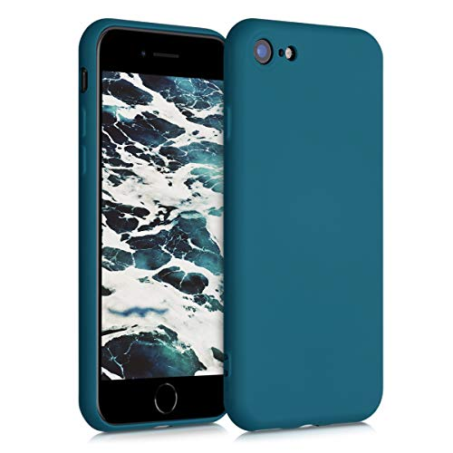 kwmobile Hülle kompatibel mit Apple iPhone 7/8 / SE (2020) - Handyhülle Handy Hülle in Petrol matt