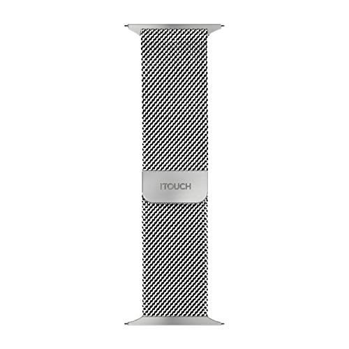 iTouch Air Special Edition Metal Mesh Straps, Replacement Smartwatch Straps, Metal Mesh Smartwatch Straps, Compatible ONLY with The iTouch Air SE (Silver)