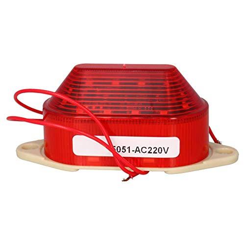 Lámpara de señal LTE-5051 220V 3W Lámpara de señal de destello roja...